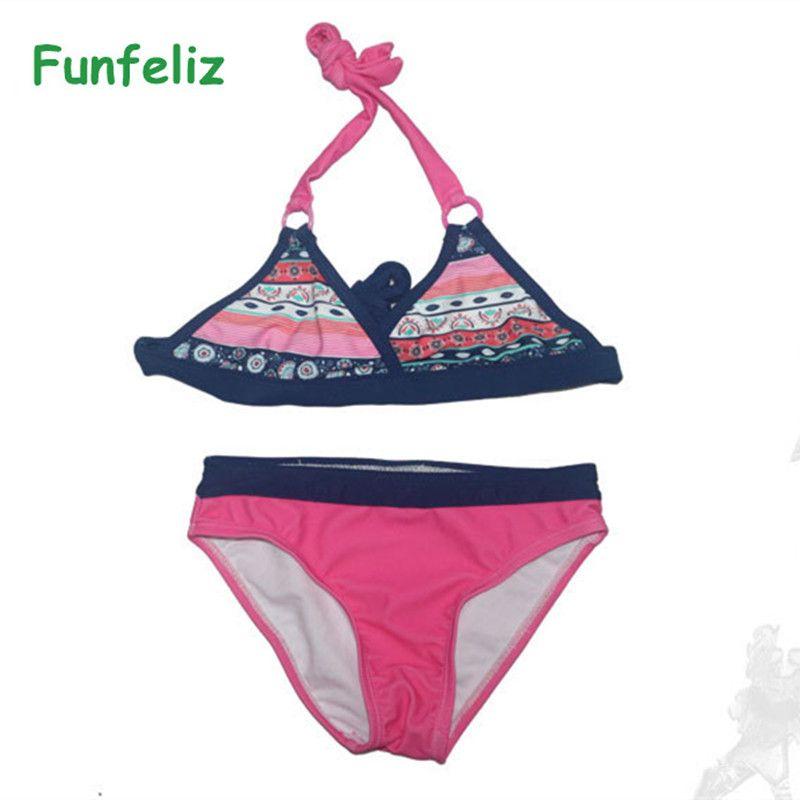 d5b77b2e2 Girls Swimwear biquini infantil swimwear girl Children swimsuit two pieces  bathing suit for girls kids bikini