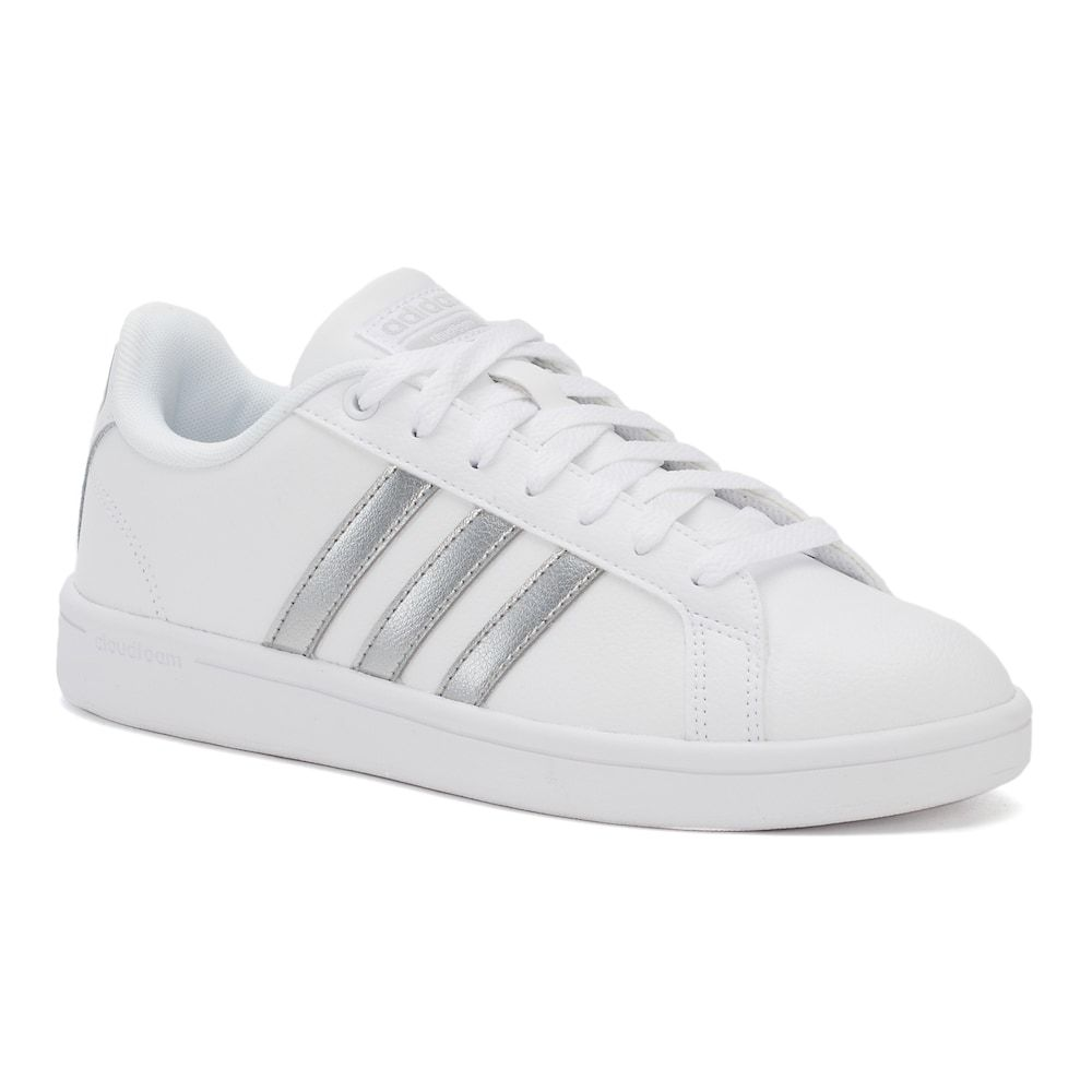 Adidas NEO Cloudfoam Advantage Stripe Women's Shoes, White