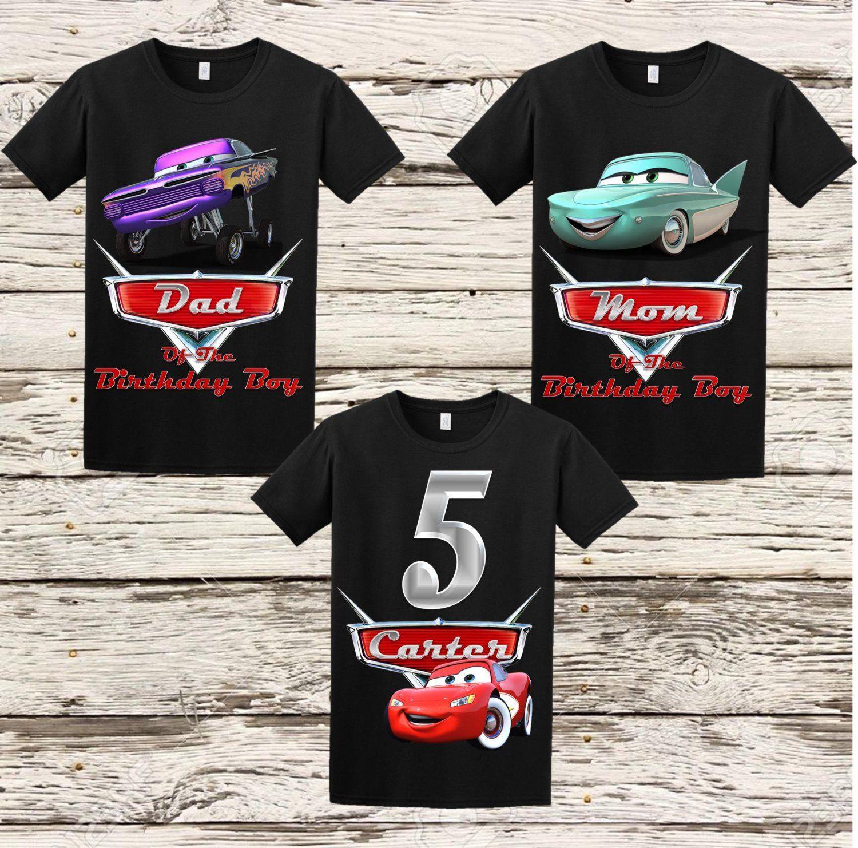Disney Cars Birthday Shirt Disney Cars Shirt Cars Birthday Party Disney Disney Cars Birthday Cars Birthday Parties