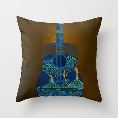 view from my guitar III Throw Pillow by Viviana González - $20.00