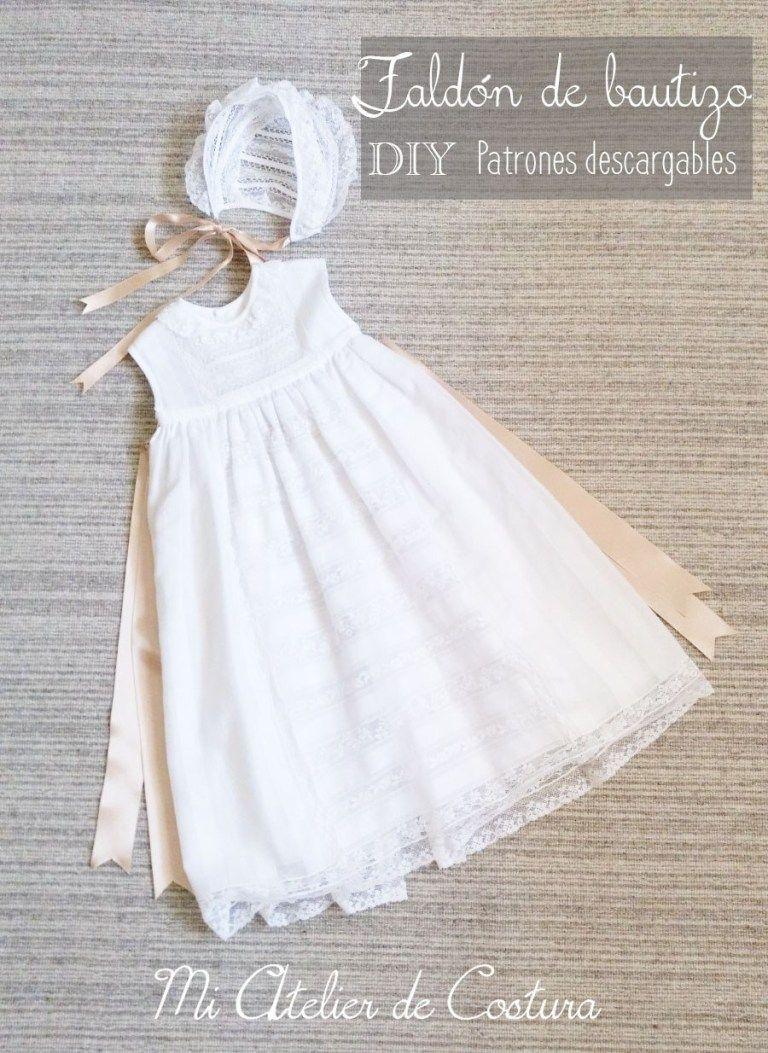 Faldón De Bautizo Para Bebé Diy Patrones Gratis Vestidos Bautizo Bebe Niña Ropa Bebe Primera Puesta Vestidos Bautizo Bebe