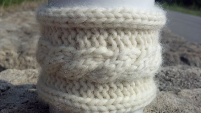 Knit Cabled Coffee Cup Sweater | Knitting, Knitting ...