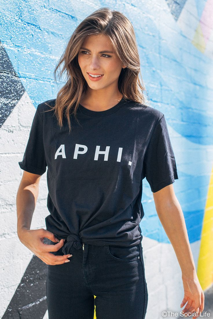everyday makup #makeup Alpha Phi Everyday Tee, only from The Social Life! #alphaphi #aphi #recruitment #bidday #sorority