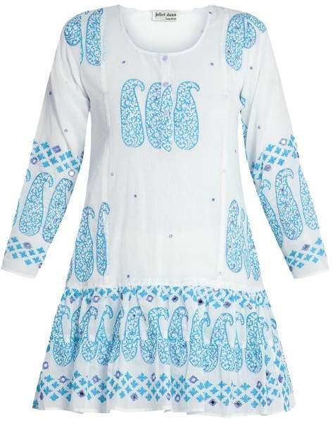 Paisley-print cotton kaftan Juliet Dunn iwpr4H0UD