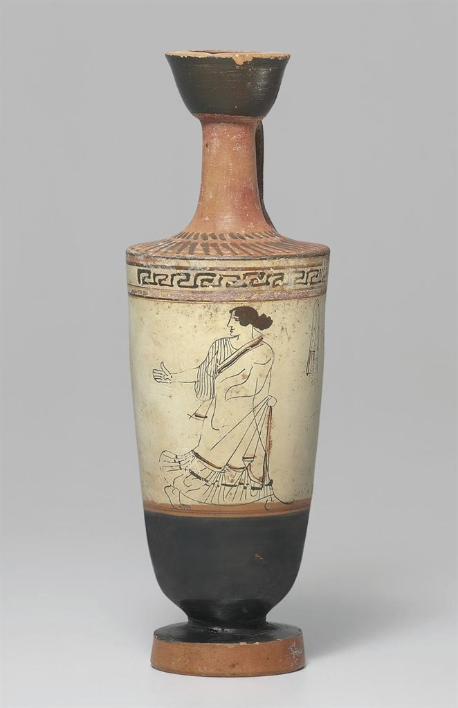 An Attic Outline White Ground Lekythos Attributed To The Carlsruhe Painter Circa 460 450 B C Ancient Greek Pottery Ancient Greek Sculpture Greek Pottery