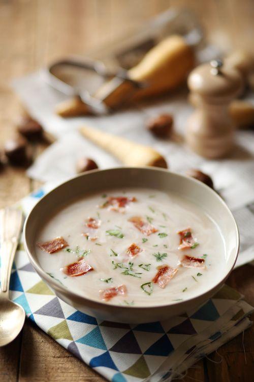 Velouté de panais et châtaignes, lait d'amandes - chefNini