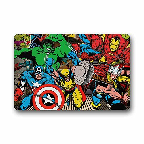 Custom Marvel Avengers Doormat Indoor Outdoor Floor Mat D