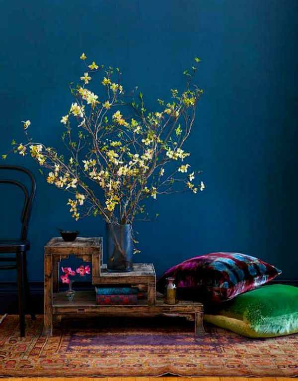 Floor Seating Blauwgroene Muren Kleurinspiratie Muurkleuren