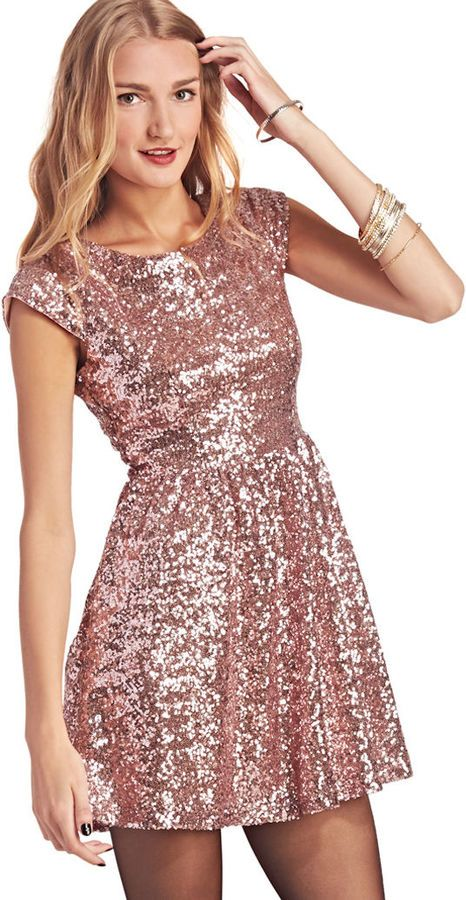 Wet Seal Pink Sequin Party Dress on shopstyle.com | Alice in ...