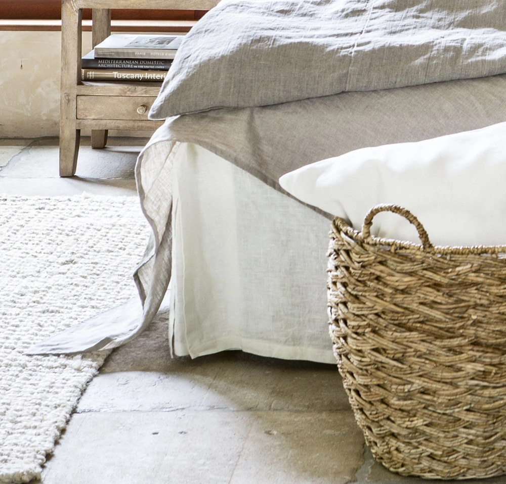 Orkney Linen Bed Skirt (With images) White linen bedding