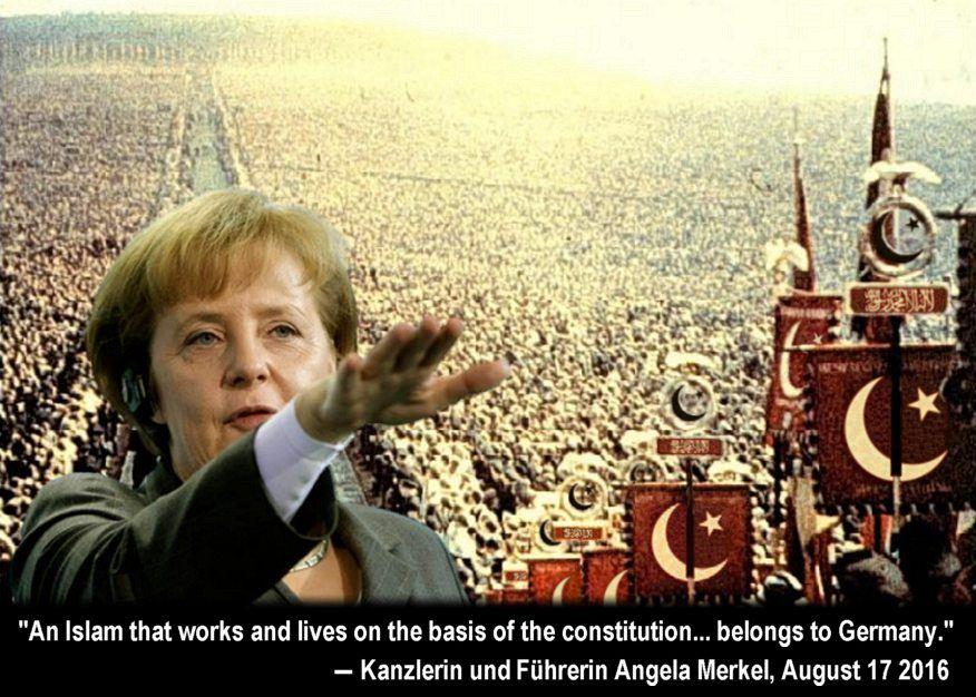 Картинки по запросу Merkel islam