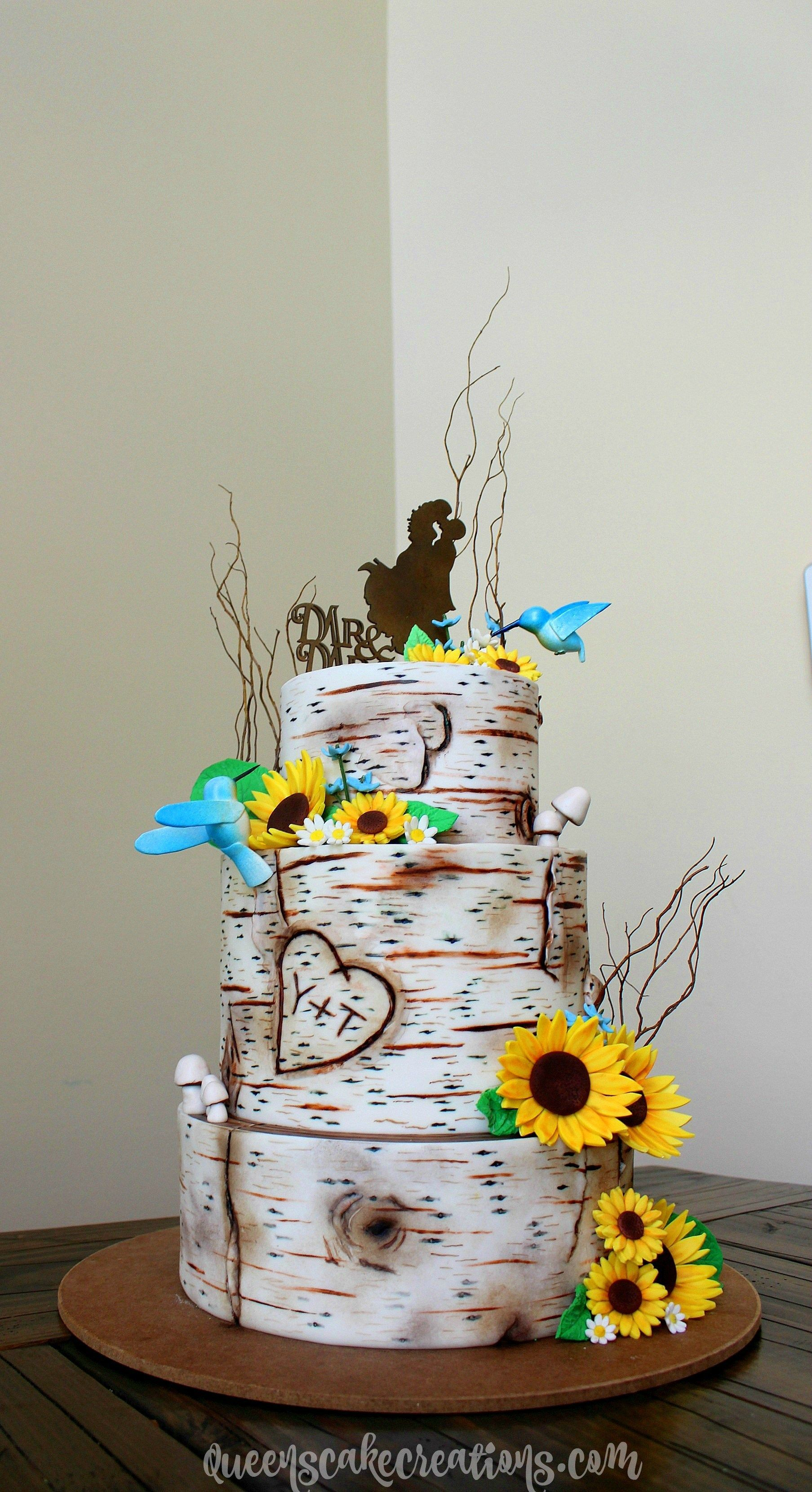 Birch Tree Wedding Cake Tutorial By Queens Cake Creations