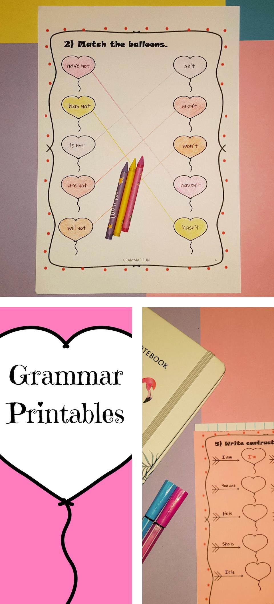 Valentine S Day Grammar Printables Grammar Printables Possessives Valentines [ 2112 x 960 Pixel ]