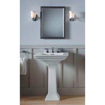 Memoirs Ceramic Pedestal Bathroom Sink With Overflow Pedestal