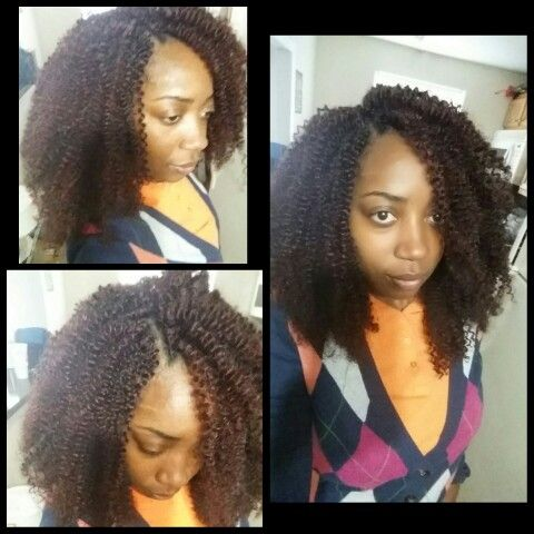 Crochet Braids With 3 Packs Of Sensationnel Kanubia Snap Cork 18in Color 99j Crochetbraids Protectivestyle