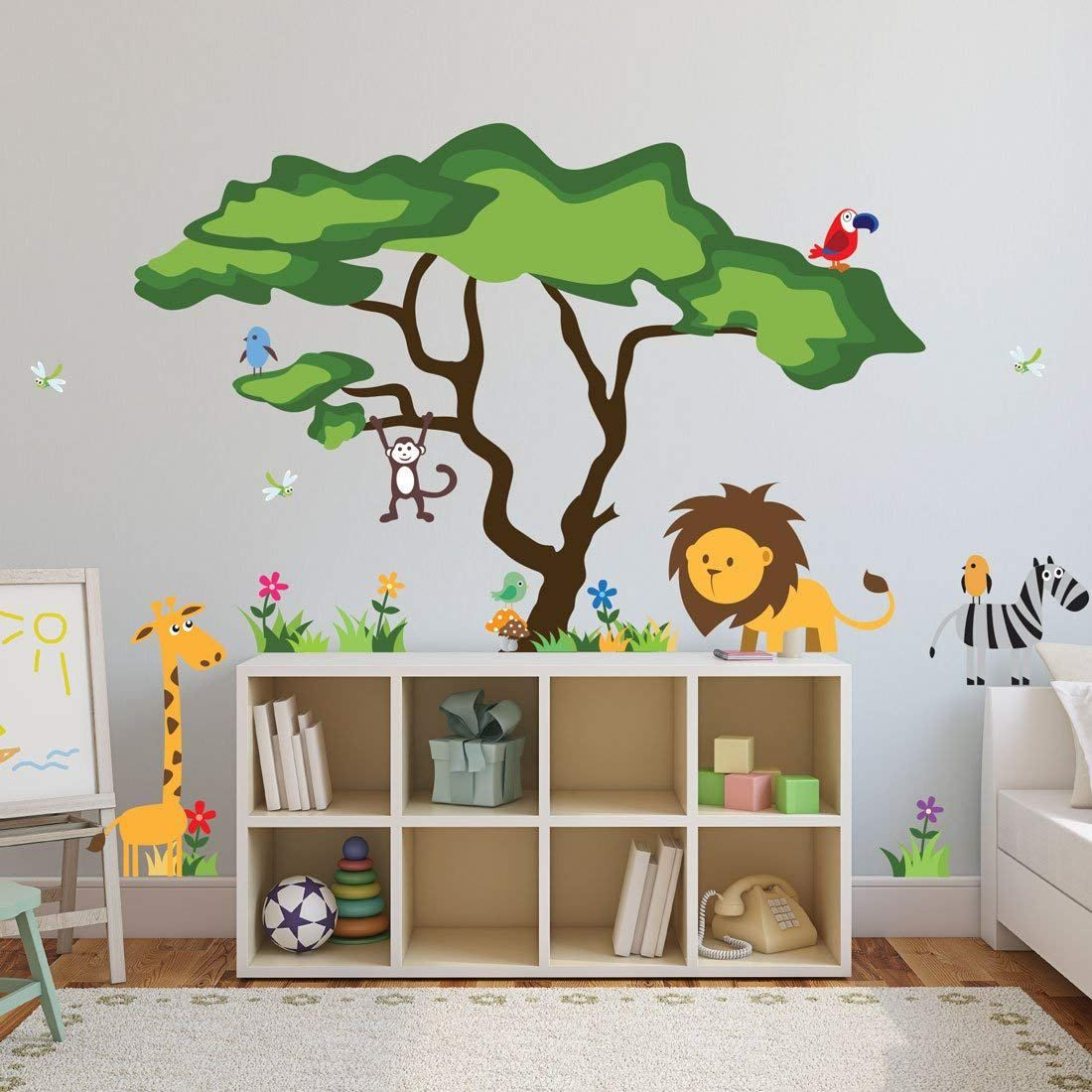 Safari Nursery Idea - Jungle Boy Nursery Theme - Zoo Animals Amorecraftylife.com #baby #nursery | Safari Theme Nursery, Boy Nursery Themes, Nursery Room Boy