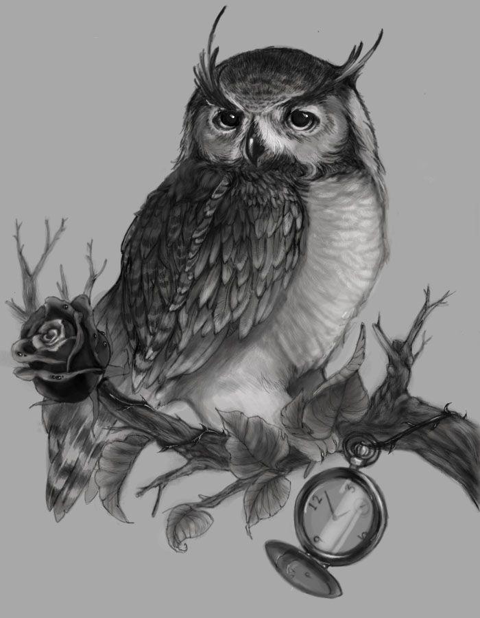 Owl Tattoo by ~Yukiko-the-Twisted on deviantART