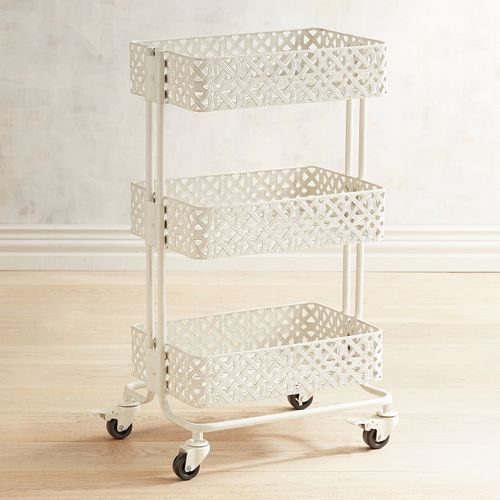 Links 3-Tiered White Rolling Trolley | Bathroom, Bathroom ...