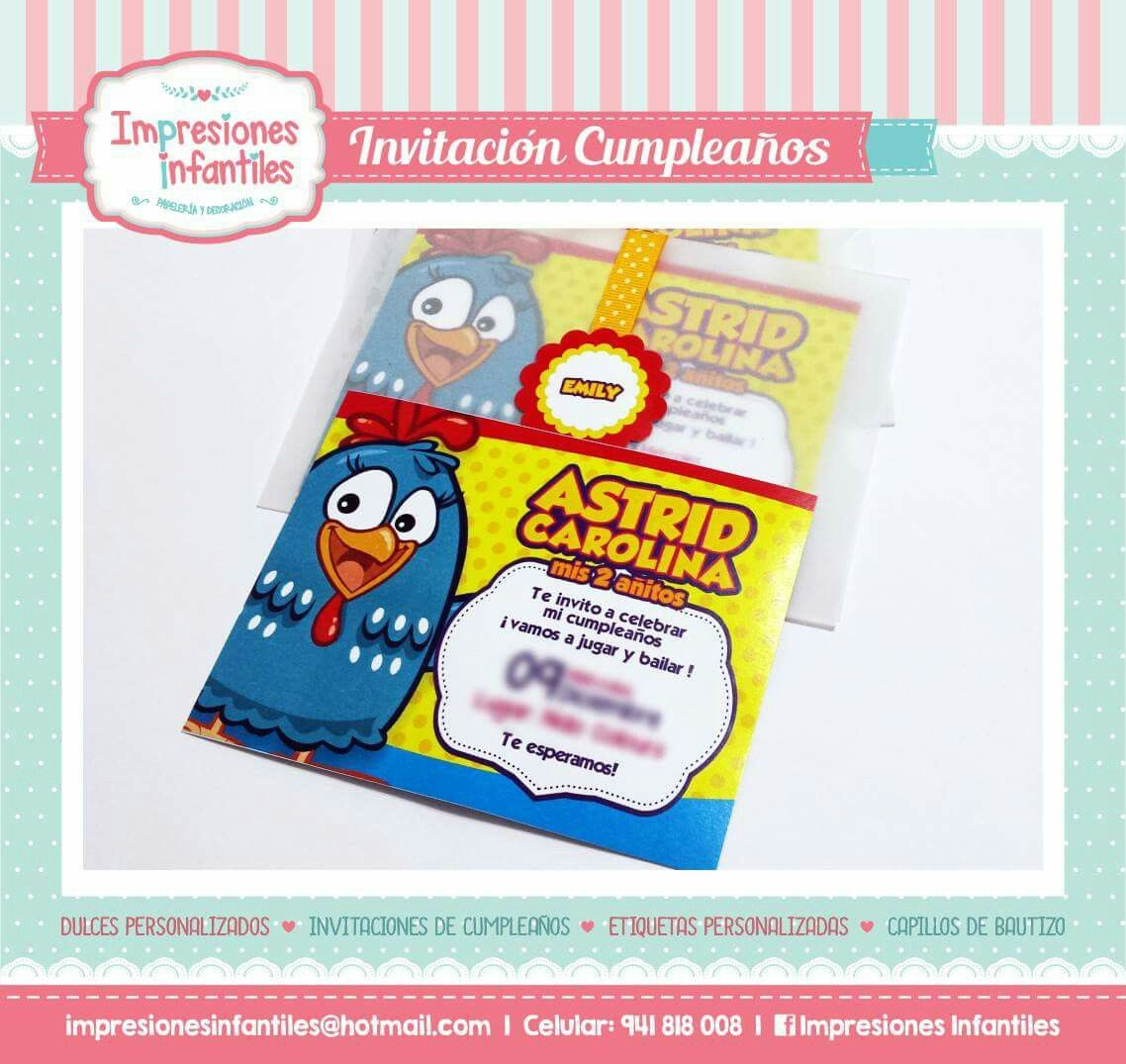 Tarjeta Invitación Gallina Pintadita Pop Tarts Ideas Para