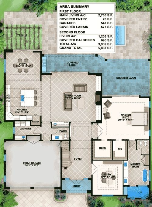 Plan 86011bs Florida House Plan With Big Upper Balconies In 2020 Florida House Plans House Plans Florida Home