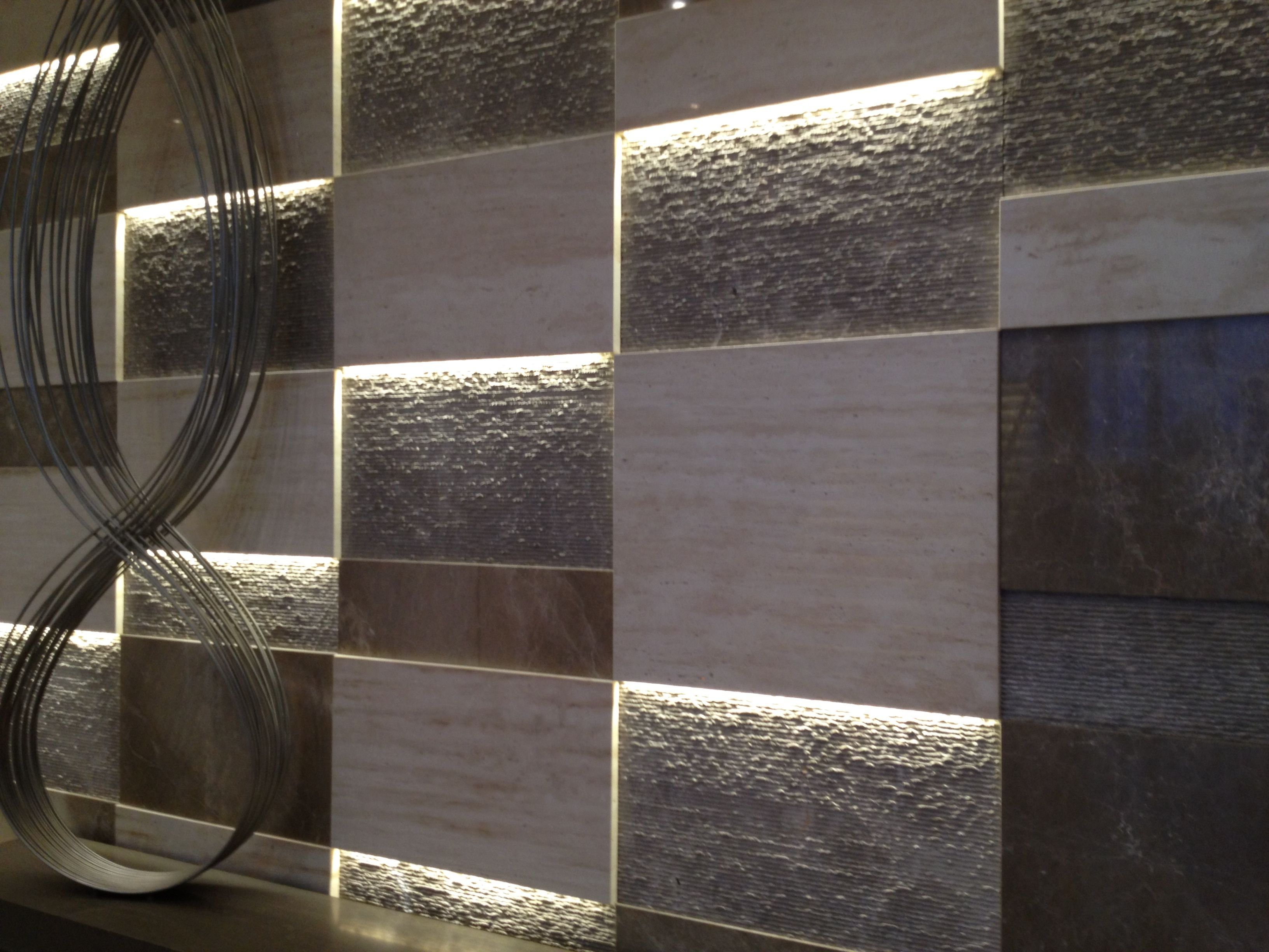 25 Creative 3D Wall Tile Designs To Help You Get Some ...  |Interior Textured Wall Tile