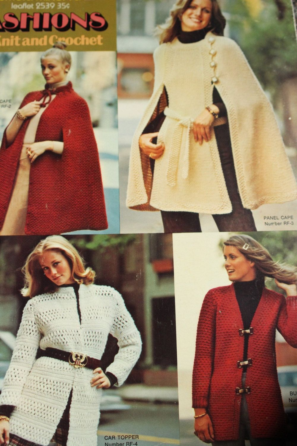 Vintage cape pattern PDF Instant Download 5 PATTERN LOT knitted crochet shawls Coat Jacket cloak knitted supplies epsteam knitting pattern by GrandmaHadItGoinOn on Etsy