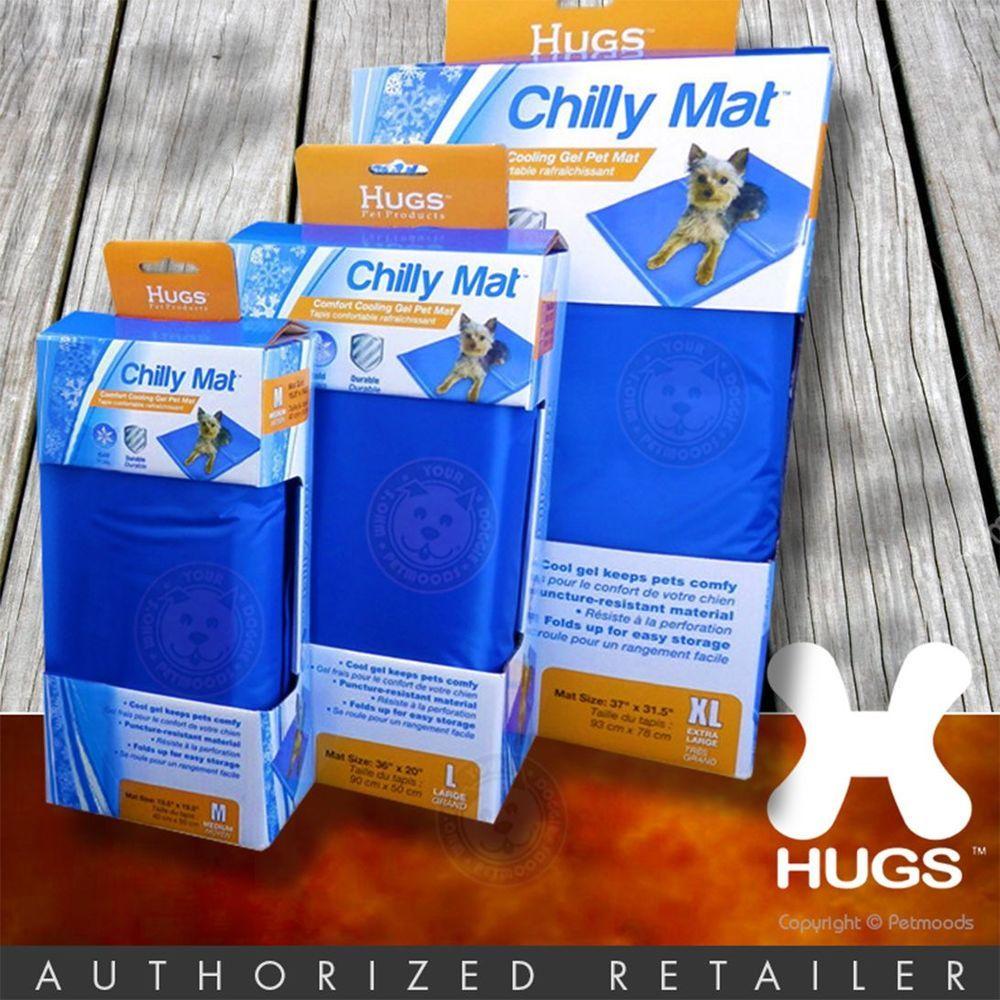 Hugs Chilly Mat Dog Cat Cooling Pad Bed Gel Vinyl Indoor Outdoor 3 Sizes M L Xl Cool Dog Beds Dog Cooling Mat Diy Dog Stuff