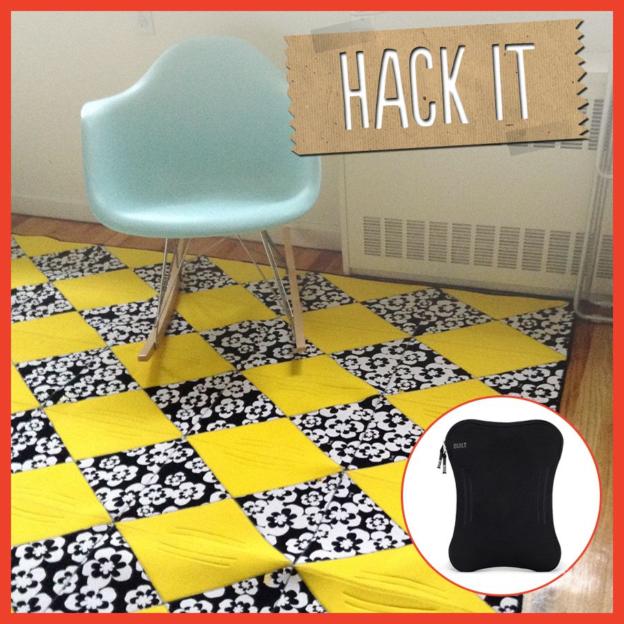 Colors Area, Area Rugs, Laptops Cases, Built Laptops, Cases Turn. Hack It:  BUILT laptop cases turned into a colorful area rug! #hack: