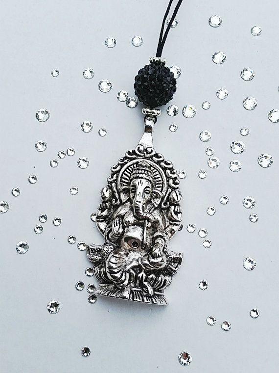 Rear View Car Mirror Accessories Ganesha Wisdom by tipatmazal