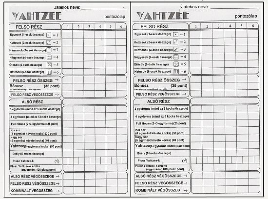 yahtzee score sheets Printable Pinterest - scrabble score sheet