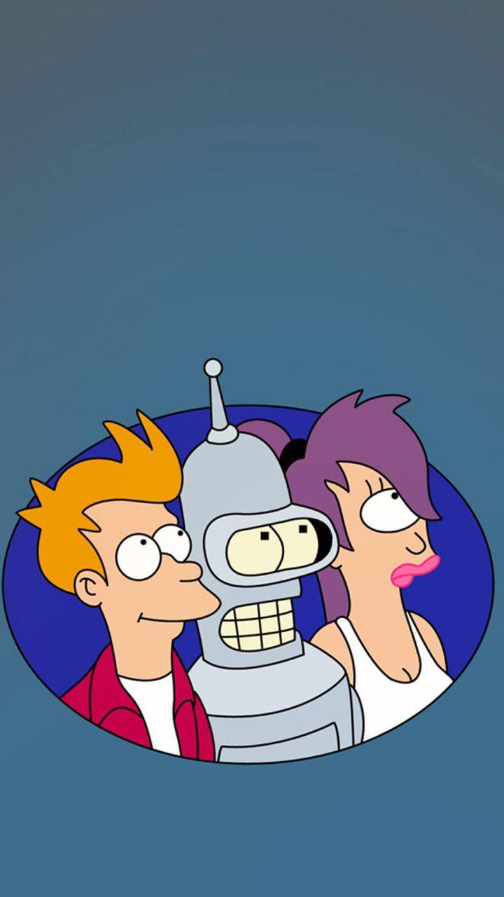 Futurama Leela Fry Bender Hd 720x1280 Mobile Wallpapers Futurama Tattoo Futurama Futurama Bender