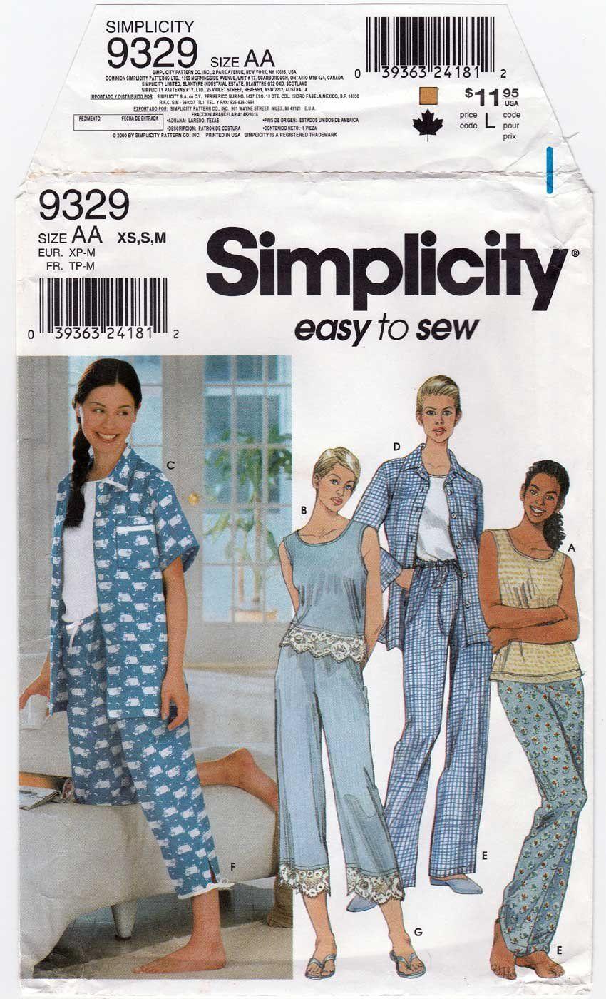 Uncut Simplicity 9329 Misses Size Xs 6 8 S 10 12 M 14 16
