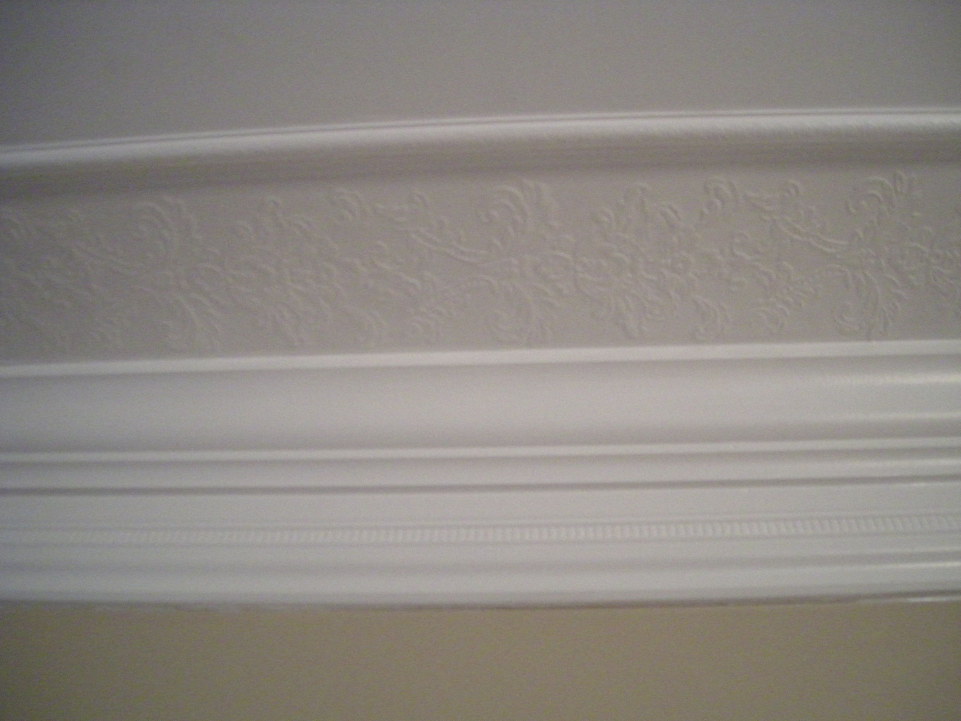 Layered frieze molding consists of from bottom up inverted base molding crown molding - Crown molding wallpaper ...