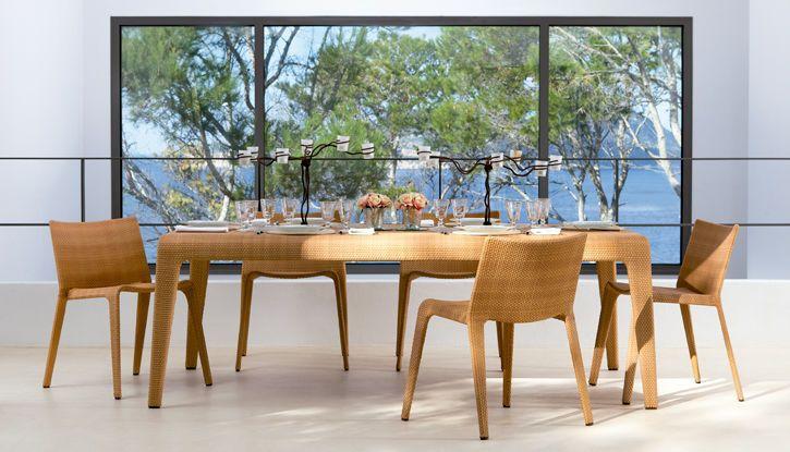 Kamnik Rectangular Dining Table 160 Outdoor 6 Seater Dining