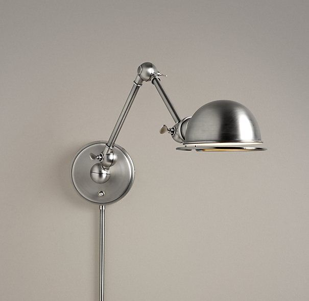 Academy Task Swing-Arm Sconce Antique Brushed Nickel