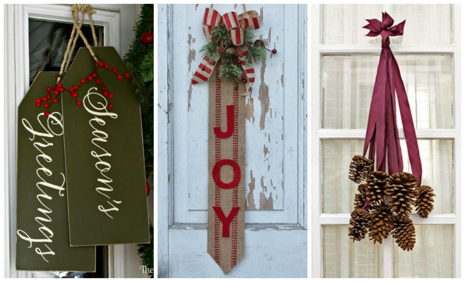 9 cheerful christmas door decorations that arent wreaths countrylivingcom
