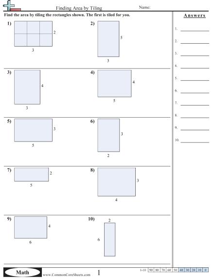 Area Perimeter Worksheets Common Core Sheets