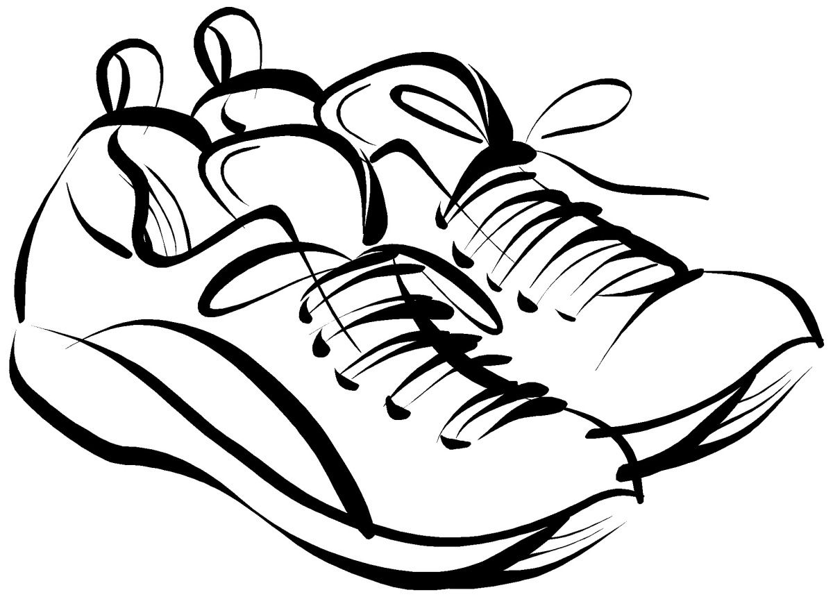 Inspiration Running Shoes Drawing Shoes Drawing Free Clipart Images