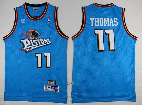 hot sale online c1603 a1dfb Detroit Pistons #11 Isiah Thomas Teal Green Hardwood ...
