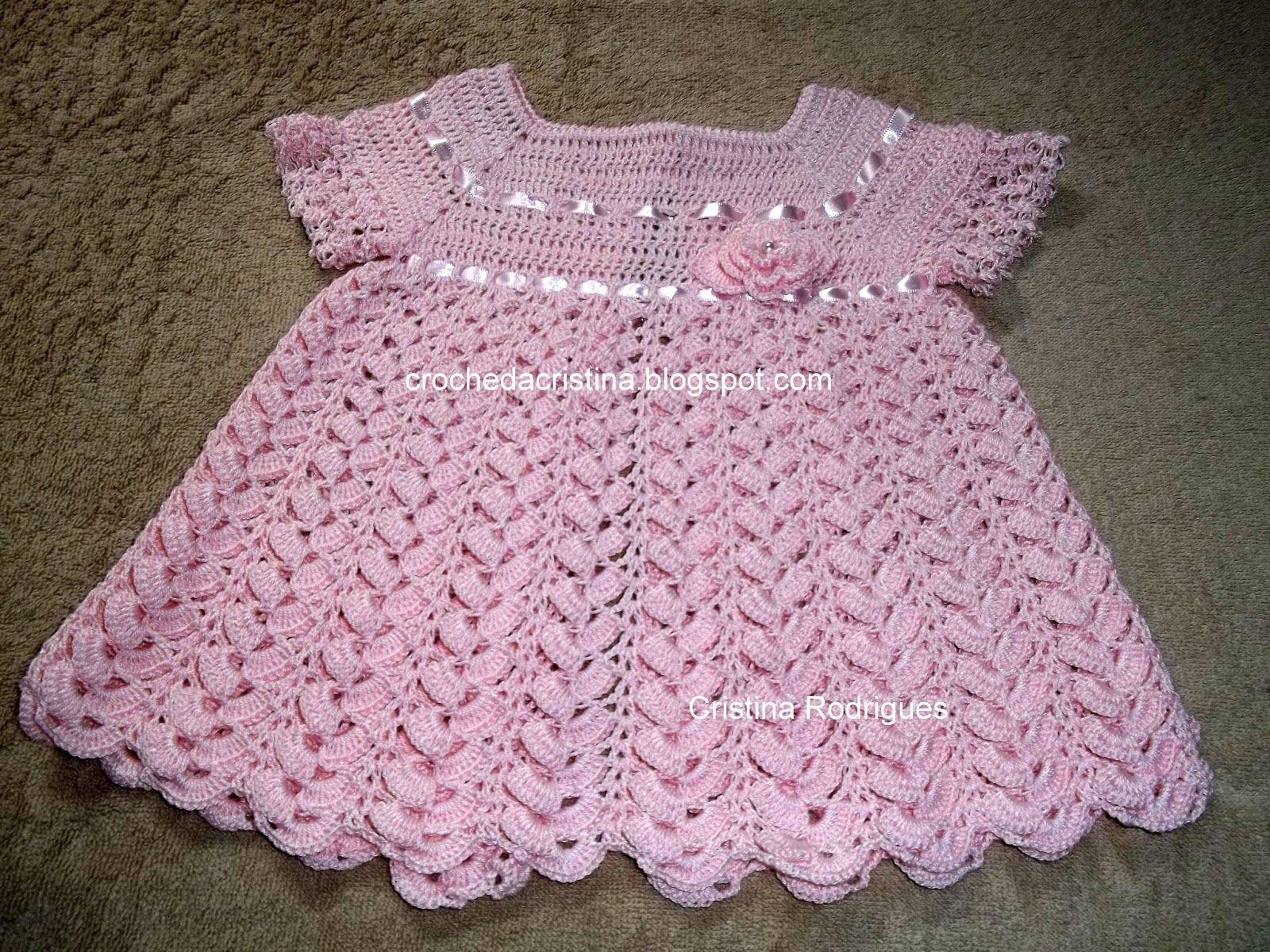 Vestido Infantil de Croche Com Grafico Vestido Infantil Croche Faz o ...