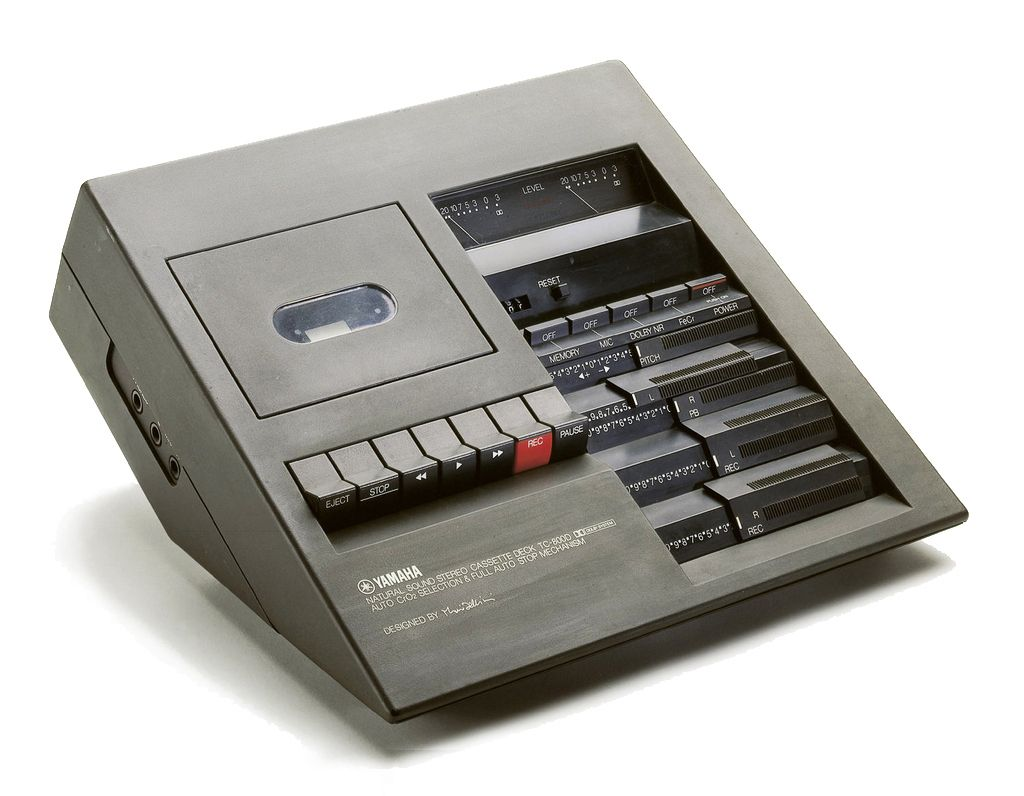 Mario Bellini, Natural Sound Stereo Cassette Deck TC-800D, 1975. For Yamaha. Via Cooper Hewitt