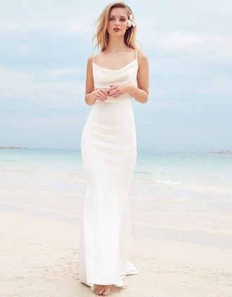 After Party Dress With Slit Up The Leg And Shimmery White Material