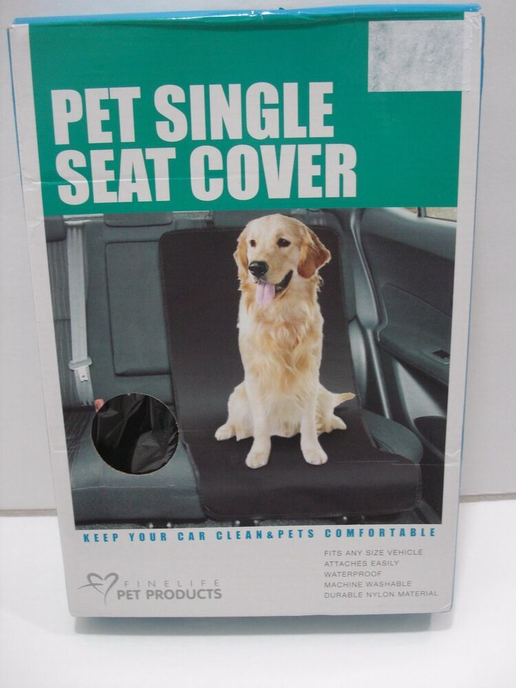 Finelife Pet Products Pet Single Seat Cover Waterproof Black One Size New Finelifepetproducts In 2020 Pet Barrier Clean Pet Dog Car Seat Cover