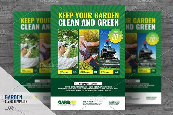 Landscaping Services Flyer By Jovan On Creativemarket  Awesome