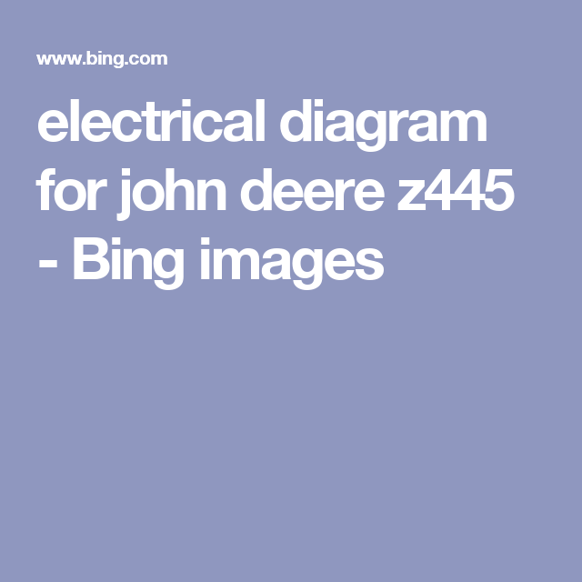 repair manual john deere tractors technical manual pdf electrical diagram for john deere z445 bing images