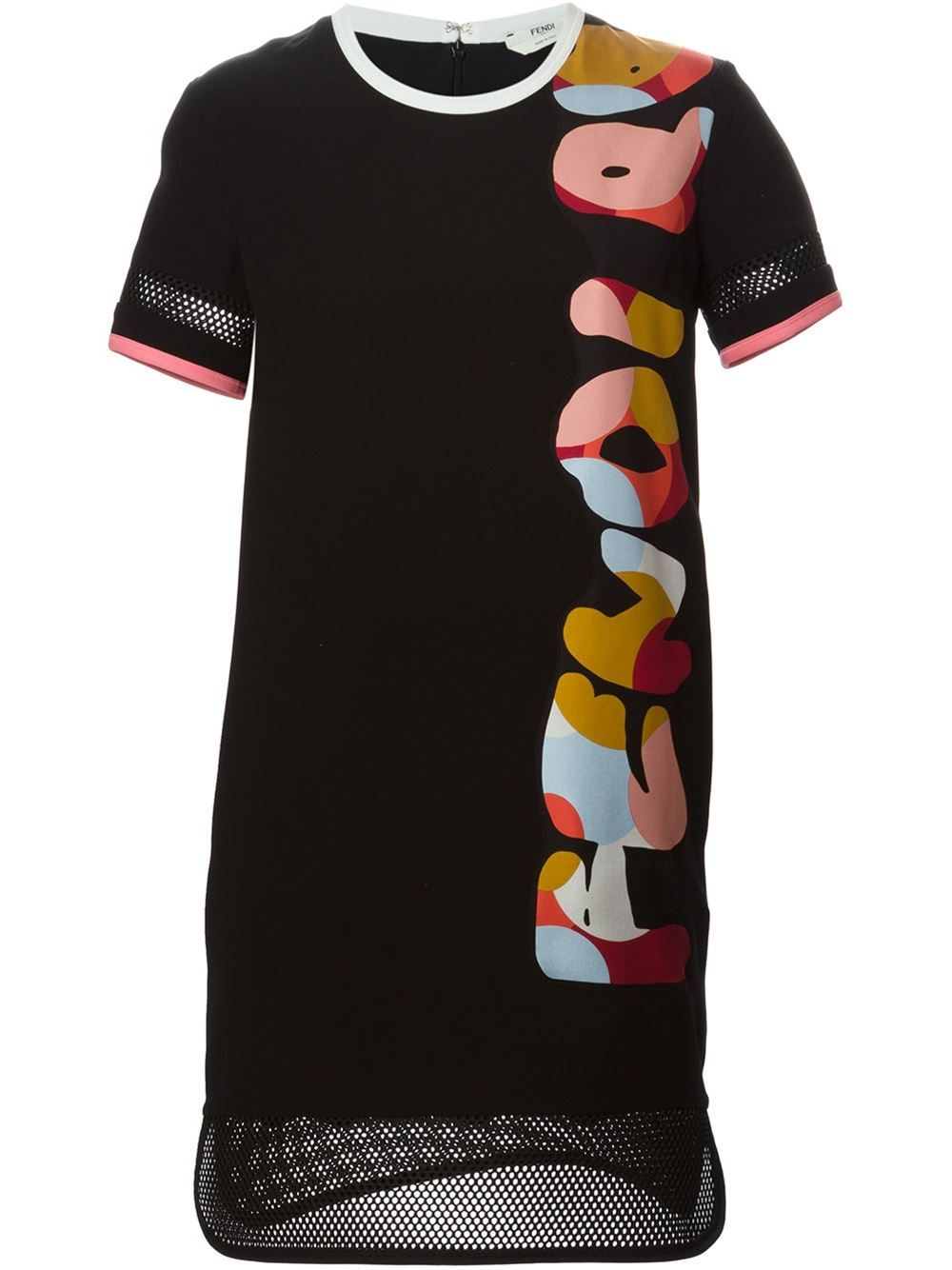 Fendi Mesh Trim Jersey Dress - Gaudenzi - Farfetch.com