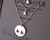 Mother Daughter Necklace Set // Inspirational by erinpelicano