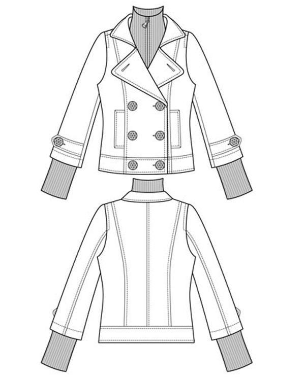 fashion sketch of jacket
