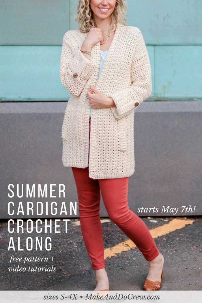 9303e54bd8c6 The Alchemy Cardigan Crochet Along 2018! Join Make   Do Crew and LoveCrochet.com  each each week in May to learn to crochet your own modern