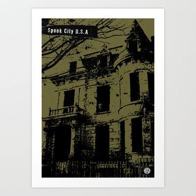 Spook City U.S.A. 01 Art Print by Officina Infernale